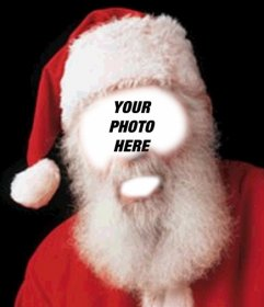 Photo montage of Santa Claus costume for Christmas