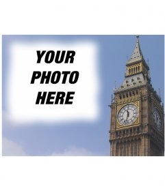 Photomontage to make a postcard with the Big Ben in London, personalized with your photo. Professional finish and easy editing via this page
