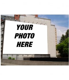 Your favorite photo into a large sign on a facade