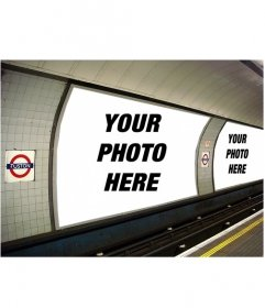 Photomontage to put the two photos you want in a few ads in the subway