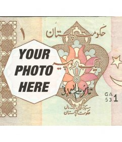 Photomontage with a rupee