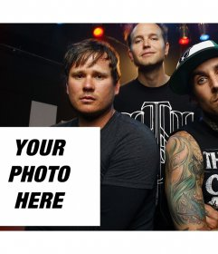 Photo effect to edit of Blink 182 band and you can print it