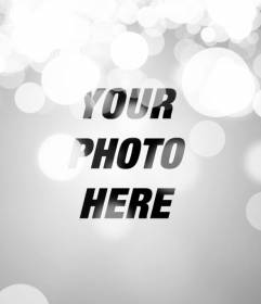 Effect for photos bokeh, blur of lights. To make your photos online