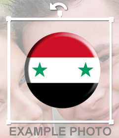 Button to stick on your photos with the flag of Syria for free