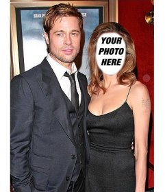 Effect to edit with your photo and be Angelina Jolie with Brad Pitt