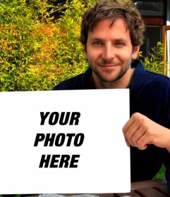 Put your picture into this frame held by Bradley Cooper