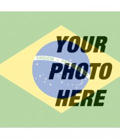 Put the Brazilian flag next to your online photo