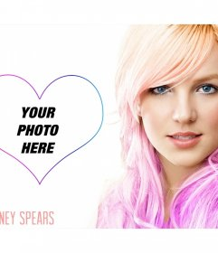 Put your picture next to the famous singer Britney Spears