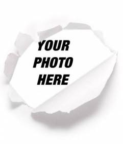 Put your picture behind a ideal for profile pictures torn paper