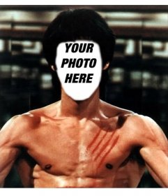 Photomontages of Bruce Lee with your photos