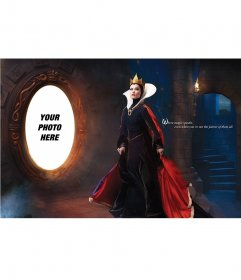 """Children photomontage to put your picture in the mirror of Snow White""""s evil step-mother"""