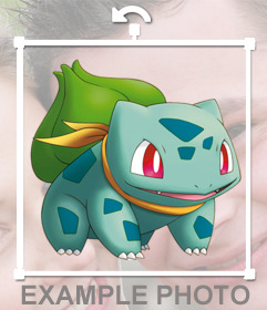 Paste Bulbasaur in your photos as a sticker with this online effect