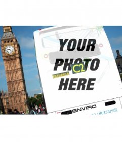 Stamp your picture over a London bus