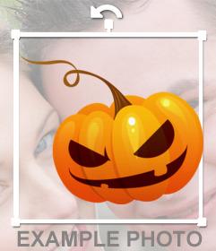 Sticker of a pumpkin