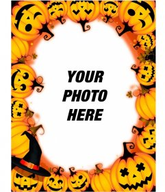 Photo Frames with Halloween Pumpkins