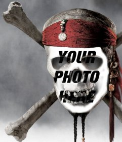 Photomontage of a pirate skull to put a picture of your face