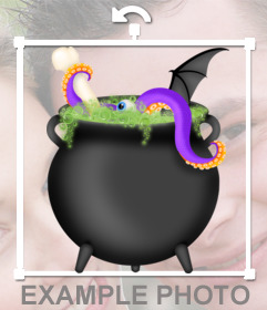 Sticker with a cauldron potion