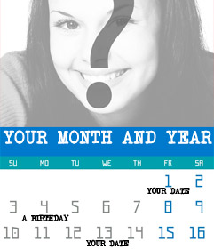 Create customized 2021 year calendar of months