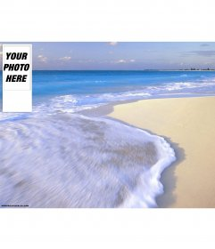 Beach background for twitter. To personalize it with your photo