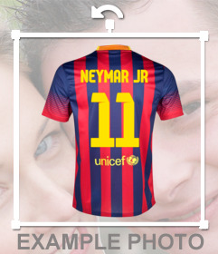 Sticker with the T-shirt of Barca player Neymar