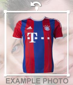 Sticker of a Bayern Munich T-shirt