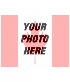 Put the Canadian flag in your profile photo online