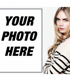 Upload your photo with the model Cara Delevigne with this free effect