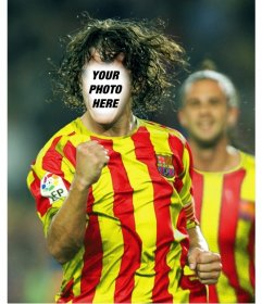 Put your face on Carles Puyol with this free photo montage