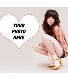 Photomontage with Carly Rae and your picture in a heart