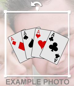 Sticker of Ace poker cards to put on your pictures