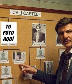 Photomontage of the Cartel de Cali with Javier Peña of the DEA