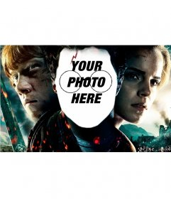 Photomontage with the face of Harry Potter
