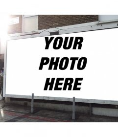 Photo effect to add a photograph of you in a billboard on the street