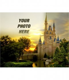 Photomontage to put your photo along with a fairytale castle