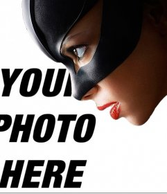 Catwoman photomontage to put a picture next to it