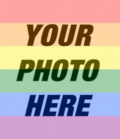 Put the gay pride arcoriris flag on your photo online