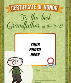 Free photomontage customized for the best grandfather in the world