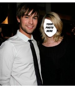 Photomontage with Chace Crawford to put your face on the girl next to him