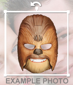 Put on your photos the Chewbacca mask with this free photo effect