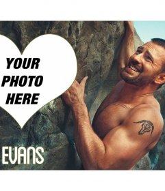 Photo frame with Chris Evans climbing