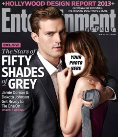 Photomontage of Fifty Shades of Grey with your photo