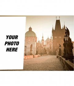 Postcard to put your picture in a Prague image