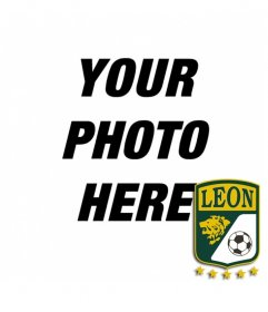 You are of Club Deportivo de Leon of Mexico? put the shield in your photo