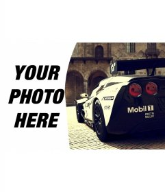 Composition with Corvette racing alongside your picture