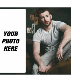 Put your picture next to Chris Evans sitting