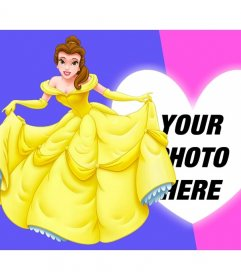 Composition with Princess Bella dressed perfectly next to your picture