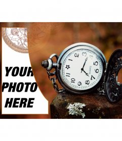 Create a vintage style collage with a pocket watch
