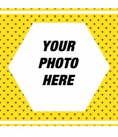 Photo frame bee
