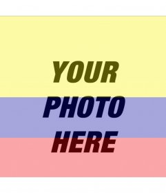 Photo filter with the image of the flag of Colombia and your photo