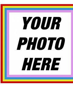 Happy square frame with colors that you can put your photos in for free